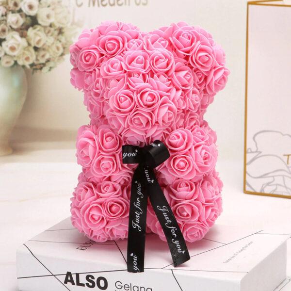 Rosenbär-rosa-25cm