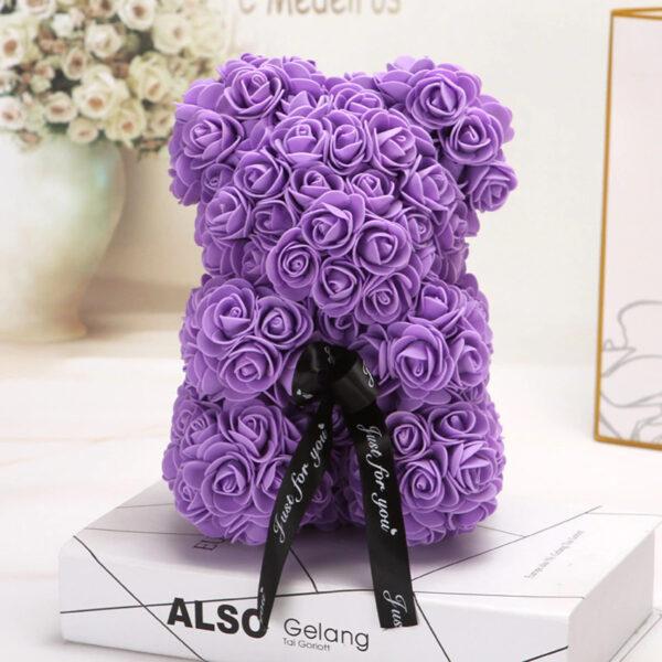 Rosenbär-violett-25cm