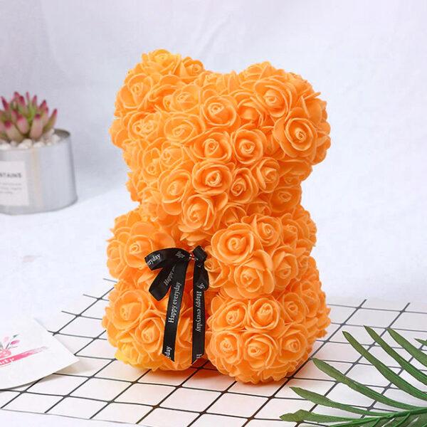 Rosenbär-orange-25cm