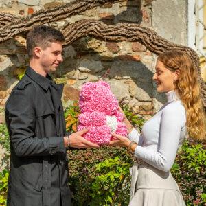 Teddybär-aus-Rosa-Rosen-mit-weißem-Herzen-40-cm