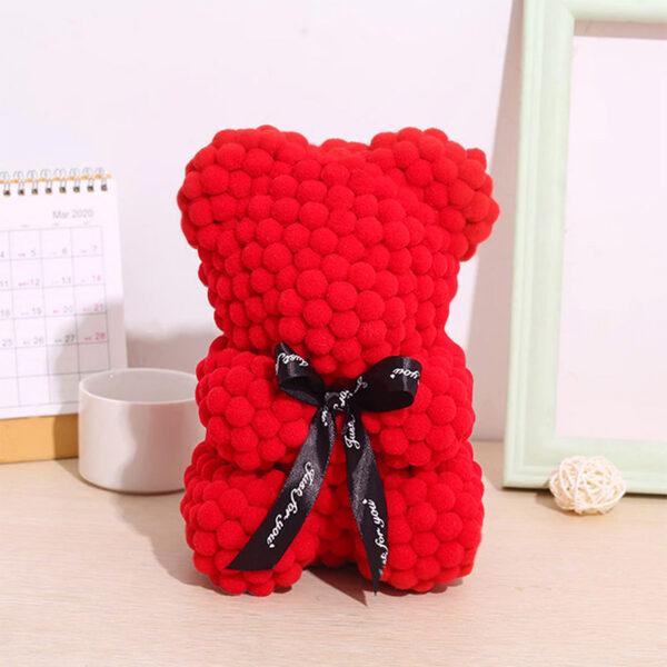 Teddybär-aus-roten-Wattebällchen-25cm